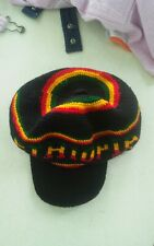 000 Knitted Ethiopia Hat Black Yellow Red & Green Africa