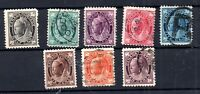 Canada 1897 QV Definitive Maple Leaf set SG#141-149 WS16071