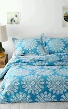 NEW Urban Outfitters Plum & Bow Maya Medallion Duvet Cover Blue Twin XL new
