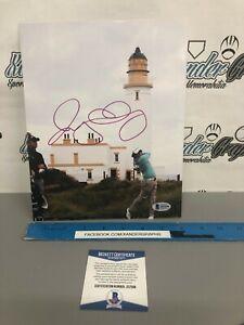 RORY MCILROY MASTERS PGA GOLF SIGNED AUTOGRAPHED 8X10 PHOTOGRAPH-BECKETT BAS COA