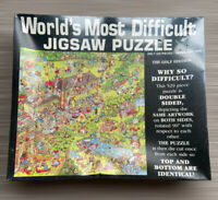 New Sealed 1990 Buffalo Games WORLD'S MOST DIFFICULT - GOLF 529 Pc Jigsaw Puzzle