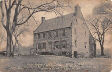 1912 Old Bellopp House Tottenville NY post card Staten Island Billopp