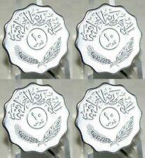 IRAQ IRAK 1981 10 Fils Saddam Hussein Era Palm Tree Iraqi Lot 4 Of Coins