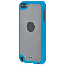 For iPod Touch 5/6 Gen SlimGrip Hybrid TPU Case Clear Back Cover - Cloudy/ Blue