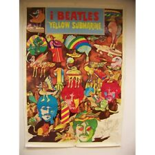 "1968 Original Italian ""I Beatles Yellow Submarine"" Poster * Reduced *"