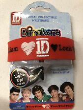 One Direction 1D Blingkers Light Up Rubber Bracelet Collectible New