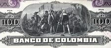 Bogota, Colombia, Banco de Colombia, specimen 100 pesos 10-percent coupon bond