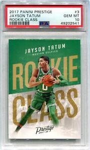 2017-18 Prestige Rookie Class 3 Jayson Tatum Rookie PSA 10 GEM MT