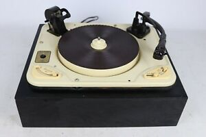Vintage Garrard Model RC98L Turntable + Wood Plinth - Cleaned & Tested, NO COVER