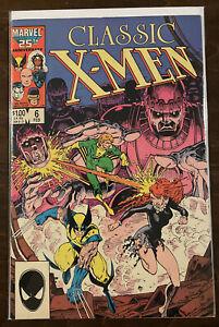 Classic X-Men #6 VF 8.0 MARVEL COMICS 1986 ARTHUR ADAMS COVER WOLVERINE