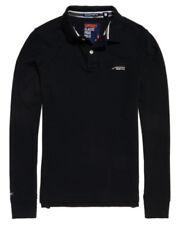 Camisas y polos de hombre negras Superdry de 100% algodón
