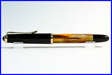 OM Nib PELIKAN 400 nn Fountain Pen 14K Nib / DARK HONEY AMBER TORTOISE & GOLD