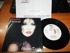 SARA MONTIEL Sara a flor de piel SINGLE VINILO PROMO 1990 CON HOJA PROMO SABINA
