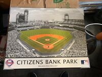 "Citizens Bank Park Philadelphia Phillies 14.75""x18.75"" Stadium Photo On Board"