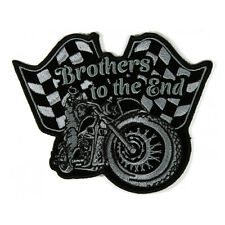 Embroidered Brothers To The End Flags Motorcycle Iron on Patch Biker Patch