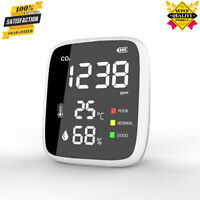 Mini Carbon Dioxide CO2 Detector Infrared Temp Humidity Air Quality Monitor