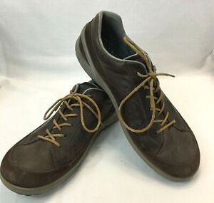 ecco Mens Biom Brown Yak Leather /Suede Lace up Spikeless Golf Shoes Size Aus 10