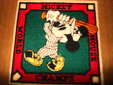 """MICKEY MOUSE WORLD CHAMPS 4"""" SQUARE NEW CLOTHING PATCH"""