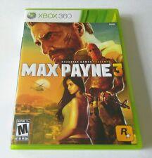 Max Payne 3 (Microsoft Xbox 360, 2012) **COMPLETE**
