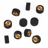 14mm Hard Pool Cue Tips Leather Billiard Snooker Cue Tip Black 10pcs/Pack