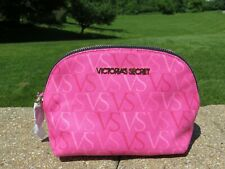 NEW - Victoria's Secret small makeup case with angel wing zipper pull - pink