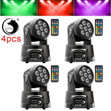 4PCS 7LED RGBW Moving Head Stage Lighting  DJ Party Light DMX+Remote Bühnenlicht