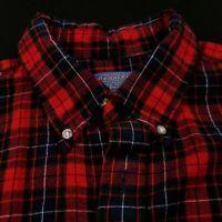 Pendleton Wool Plaid Flannel Red/Navy/Hunter Green Size XL Women's
