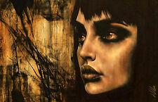"""Fine Art Non Nude Large CANVAS Painting ORIGINAL Portrait By L Dolan 22x34"""" BIG"""