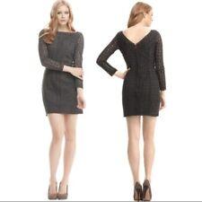 DVF Diane Von Furstenberg CARITAN Women's Crochet Dress Size 0 Heather Grey 92