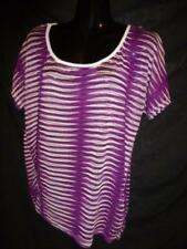 Striped Regular Size Blouses Millers Falls Company Tops for Women