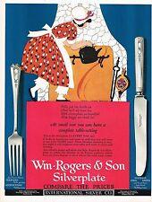 1920's BIG Vintage International Silver Co. Maginel Wright Barney Art Print Ad