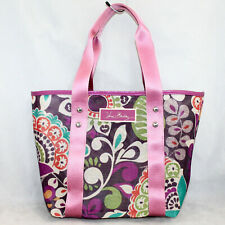 VERA BRADLEY Nylon Small Mesh Tote in Plum Crazy Floral Pattern