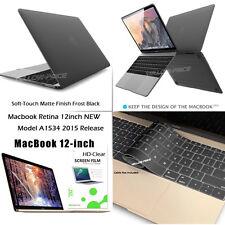 2015 Apple Macbook Retina 12inch Matte Hard Case+Keyboard Cover+Screen Protector