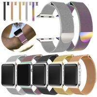 Milanese Stainless Steel Magnetic Watch Band For Apple Watch Series 3 38MM/42MM