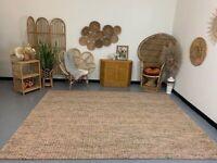 Abstract Rust 8x10 Large Wool Indoor Area Rug NEW Safavieh Multi