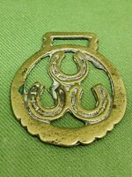 Antique Three Horse Shoe Small Horse Brass