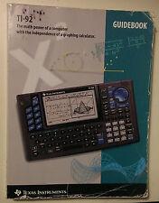 Texas Instruments TI-92 Guidebook Manual - No Calculator