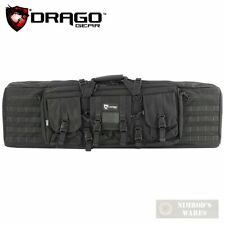 """Drago Gear 42"""" Double-Rifle Case w/ Padded Divider Blk 12-323Bl Fast Ship"""