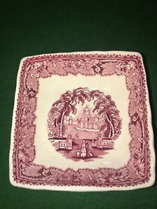 "VINTAGE MASON'S IRONSTONE ""VISTA"" PATTERN 4 IN SQUARE SERVING BOWLS ENGLAND"