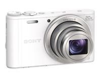 A - Sony Cyber-shot DSC-WX350 Digital Camera: White