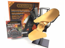 COSYSTOVE Heat Powered Stove Top Fan AND THERMOMETER Wood Log Burner Eco F2G +TH