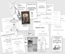 Alte Kataloge, Zeiss, Leitz, Merz, Plössl, Schotte, Kern, Reiss, Büxenstein