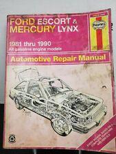 Ford Escort & Mercury Lynx 1981-1990 Haynes Repair Manual