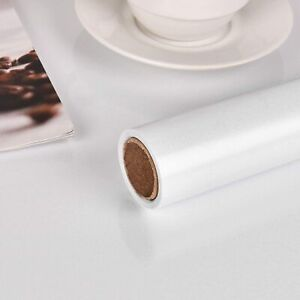 Glossy White Self Adhesive Contact Paper Bedroom Kitchen Cabinet Sticker 0.6x10m