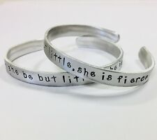 Though she be but little she is fierce, FREE SHIPPING,Shakespeare quote bracelet
