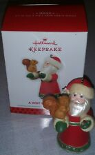 Hallmark Keepsake 2014 A VISIT FROM SANTA Christmas Ornament with BOX EC