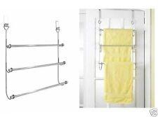 STYLISH 3-TIER TOWEL RAIL HANGER BATHROOM STORAGE AIRER RACK OVER THE DOOR NEW
