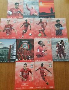 13 x Liverpool FC Home programmes from First ever Premiership winning Season!!