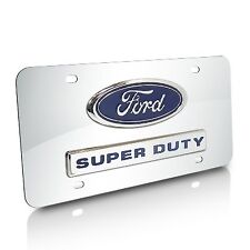 Ford Super Duty Logo and Nameplate Chrome Steel License Plate