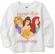NWT 12-18 MON. ADORABLE DISNEY PRINCESSES DREAM T SHIRT TOP OLD NAVY GIRLS GIFT!